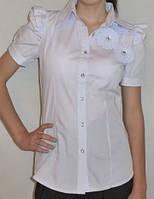 Блузка школьная детская для девочки 6-12 лет,белая