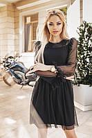 Женское модное летнее платье с сеткой