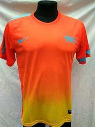 Футбольная форма взрослая в стиле Nike чистая оранжево-желтая