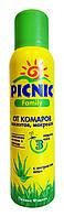 Аэрозоль Picnic Family от комаров, москитов и мокрецов с экстрактом алоэ для всей семьи - 150 мл.