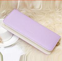 Женский  кошелек  клатч фиолетовый
