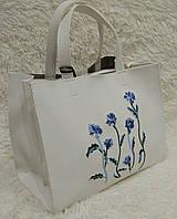 Женская модная сумка с вышивкой качественная эко-кожа цвет белый