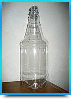 Бутылка с крышкой прозрачная для кваса, пива 1 литр