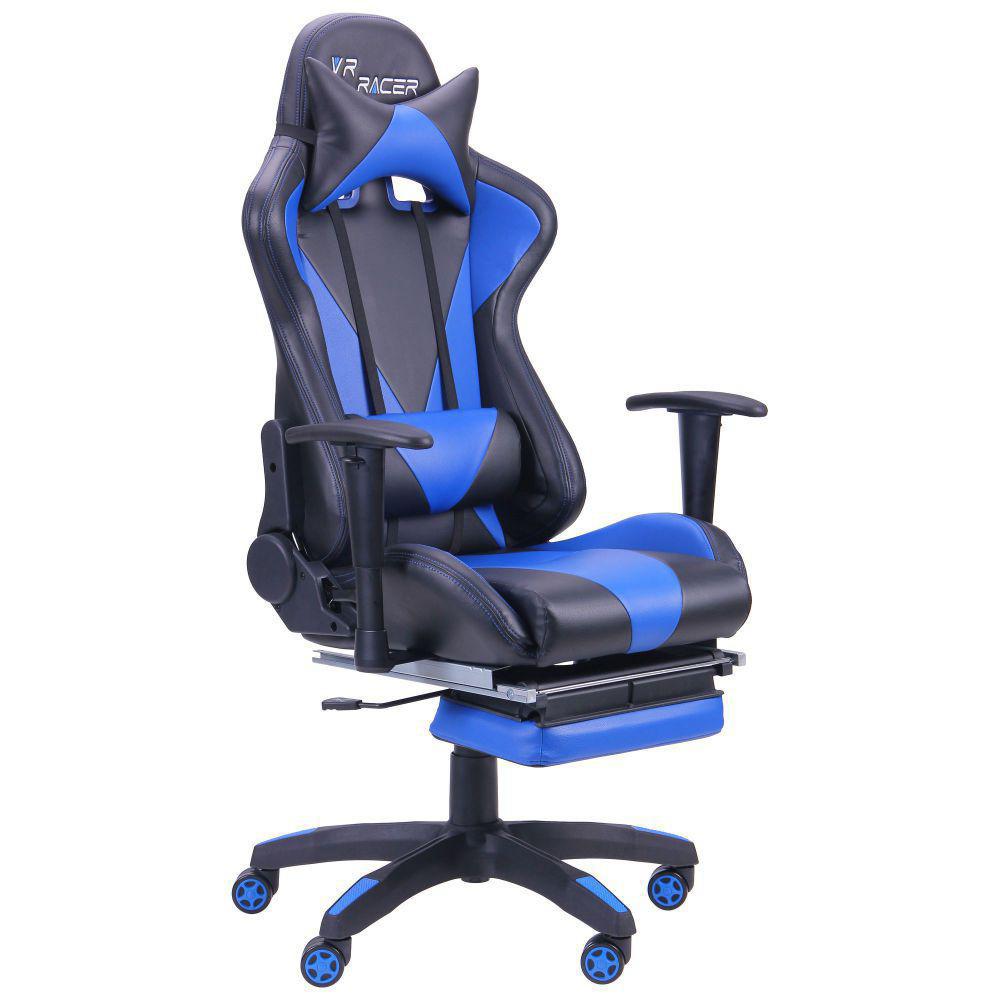 Геймерское кресло VR Racer Magnus BN-W0109A черный/синий