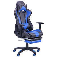 Геймерское кресло VR Racer Magnus черный/синий, TM AMF