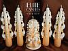 Большой набор свадебных свечей для семейного очага прекрасно украсит Ваш праздник