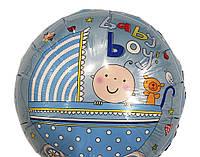 Шарик фольгированный Baby Boy коляска диаметр 45 см.