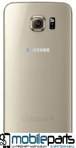 Задняя панель корпуса (крышка) для Samsung G925 Galaxy S6 Edge (Качество ААА) (Золотая)