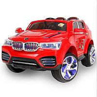 Детский электромобиль БМВ M 2392 EBR-3 на резиновых EVA колёсах, красный