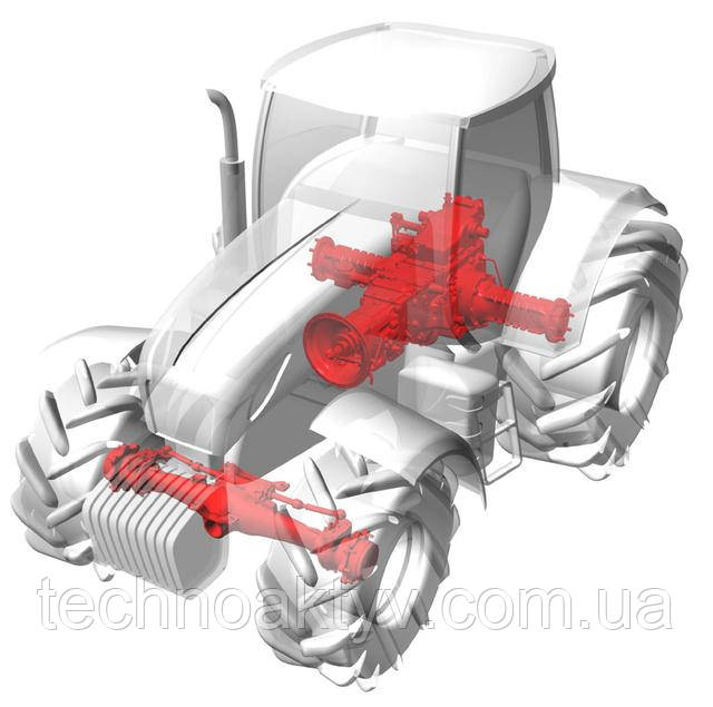 CARRARO специализируется на производстве мостов, редукторов, осей и деталей трансмиссии:  рулевые тяги, мосты, коробки передач, бортовые редукторы, оси, полуоси, рем.комплекты цилиндров управления, втулки, сальники, ступицы, сателлиты, шкворни, кулаки, крестовины, планетарные крышки, наконечники, фрикционы, подшипники, манжеты, дифференциалы, многих других запасных частей ходовой.
