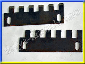Зубчатые ножи для корнерезки (4 шт)
