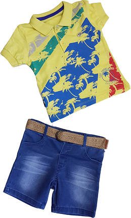 Футболка+ шорты на мальчика  Pollito  размер 86 92 98, фото 2