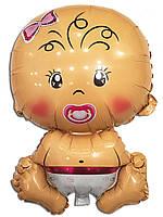 Воздушный шарик фольгированный Карапуз девочка 71 х 47 см