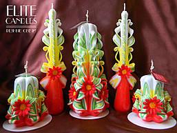 Весільні свічки з прикрасами для вогнища