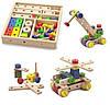 Конструктор. Набор строительных блоков 53 детали (50490), Viga Toys