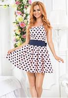 Летнее женское платье с пышной юбкой