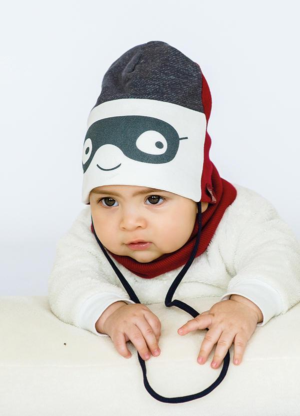 Детская шапка РОКФИ (набор) для малышей оптом размер 44-46-48