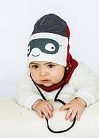 Детская шапка РОКФИ (набор) для малышей оптом размер 44-46-48, фото 1