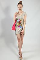 Платье-туника летняя XTSY короткий рукав с принтом