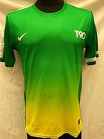 Футбольная форма взрослая в стиле Nike чистая зелено-желтая