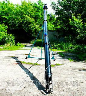 Шнековый транспортер Ø130 мм, 12 м, 8 т/час, 5.5 кВт