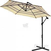 Пляжный и садовый наклонный зонтик от солнца диаметр 2,7 метра светло коричневый