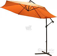 Пляжный и садовый наклонный зонтик от солнца диаметр 3,5 метра терракотовый
