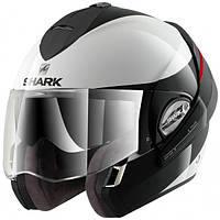 Шлем Shark EVOLINE 3 HAKKA black\white L HE9352EWKR