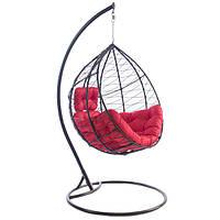 Кресло - кокон красное, нагрузка 110 кг