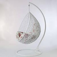 Кресло - кокон подвесное металическое белое, нагрузка 110 кг