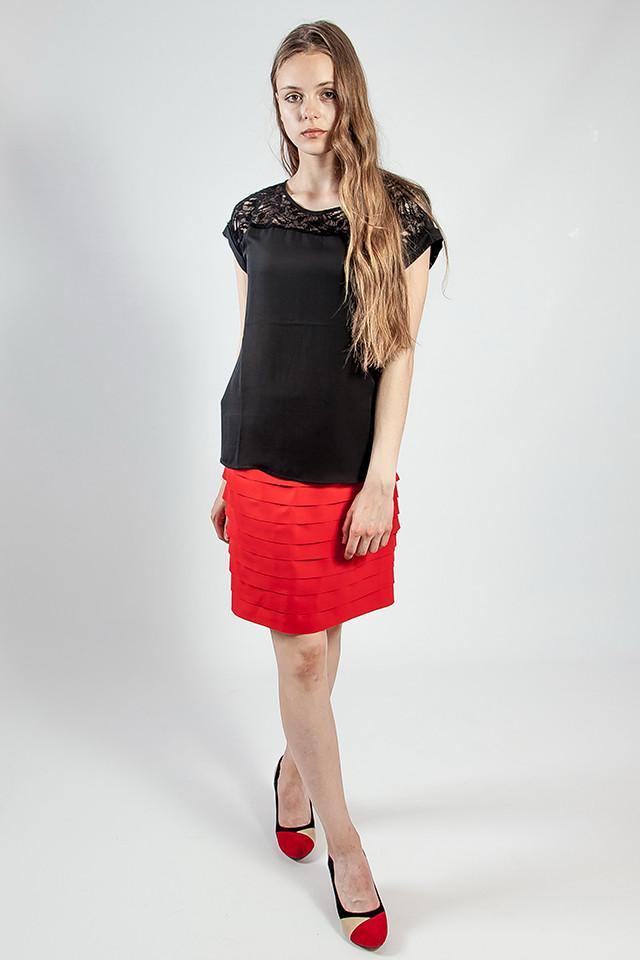 Юбка женская летняя короткая  красная  Rinascimento
