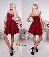 Великолепное платье бордового цвета