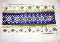 """Кухонное вафельное полотенце """"Орнамент синий"""" 70х48см"""
