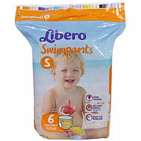 Подгузники-трусики для плавания Libero (7-12 кг) 6шт. (подгузники Либеро)