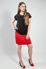 Юбка женская летняя короткая  красная  Rinascimento, фото 3