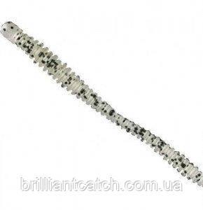Силікон Nomura Glitter Rib Worm 120мм 3,5 гр. колір-003 (black dots back) 6шт