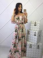 Нежное платье макси с принтом