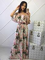 Роскошное платье с цветочным принтом