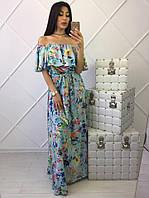 Оригинальное цветочное платье