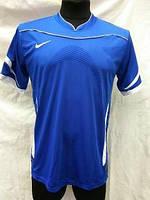Футбольная форма взрослая в стиле Nike чистая сине-белая
