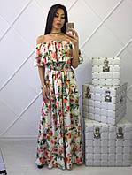 Длинное женственное платье