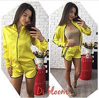 Спортивный костюм на молнии желтый