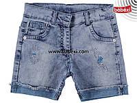 Шорты джинс для девочки 7,8 лет 219600