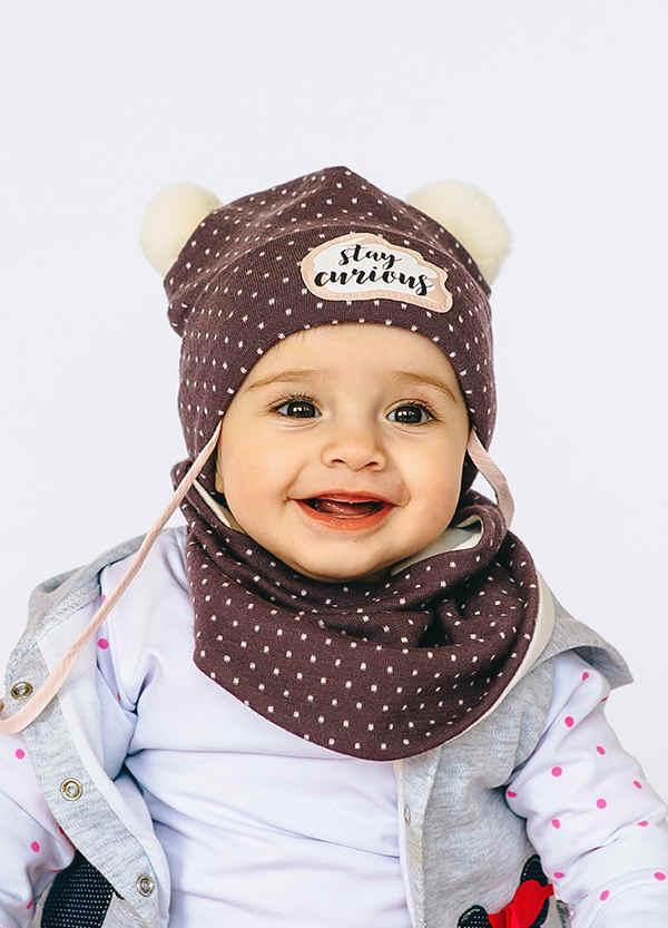 Детская шапка ЧЕЛСИ (набор) для малышей оптом размер 44-46-48