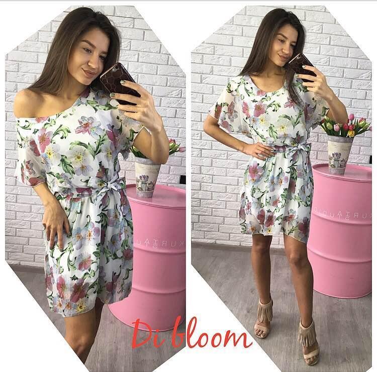 4f07c51e046 Белое шифоновое платье - Интернет-магазин