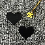 Наклейки на грудь в виде сердечка (стикини) черного цвета, фото 2