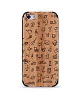 Деревянный чехол с гравировкой для Apple iPhone 5 Wooden Bamboo Case 5/5s Hobbies