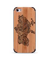 Деревянный чехол с гравировкой для Apple iPhone 5 Wooden Bamboo Case Ukraine