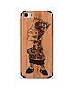 Деревянный чехол с гравировкой для Apple iPhone 5 Wooden Bamboo Case Bart Simpson