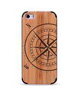 Дерев'яний чохол з гравіюванням для Apple iPhone 5 Wooden Bamboo Case Compass